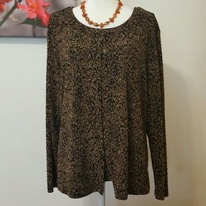 CHICO'S 2 PIECE TOP WITH JACKET SIZE 3 (16)